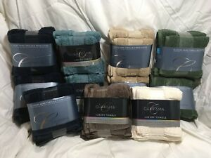 Charisma-Face-Hand-Towel-Set-of-4-Khaki-Green-Midnight-Blue-Ivory-Turquoise