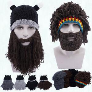 Boy Girl Man Women Gifts Crochet Mustache Knitted Warm Viking Beard ... 21d7548bf5