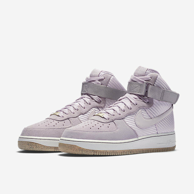 Nike femmes Air Force 1 High PRM Basketball Chaussures Bleached Lilac 654440 500