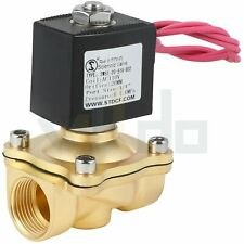 34 Nc Brass Electric Solenoid Valve Ac 110v For Water Air Gas Viton