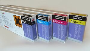 4 X 440ml Mimaki SS21 Compatible Solvent Ink Cartridge for JV33 CJV Printers