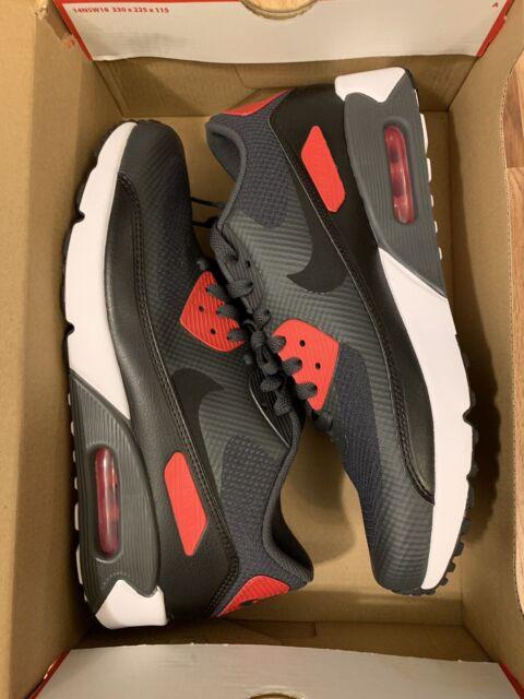RARE Nike Air Max 90 Ultra 2.0 Essential Anthracite Black Red Sz 9.5 875695 007