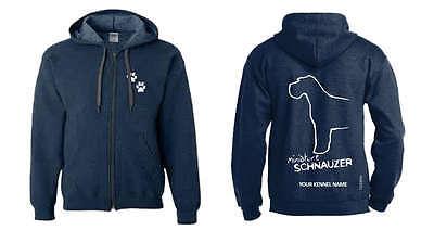 Hoodies & Sweatshirts Humorous Miniature Schnauzer Full Zipped Dog Breed Hoodie Exclusive Dogeria Design