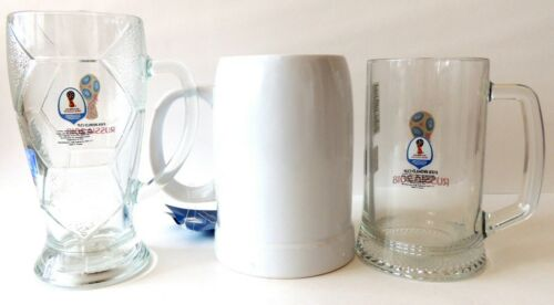 Beer Mug volume 500-1000 ml 3 pcs Official Fifa World cup Russia 2018 NEW