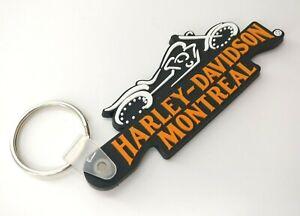 New-Free-Shipment-HARLEY-DAVIDSON-MONTREAL-Rubber-Motor-Bike-Keychain-Keyholder