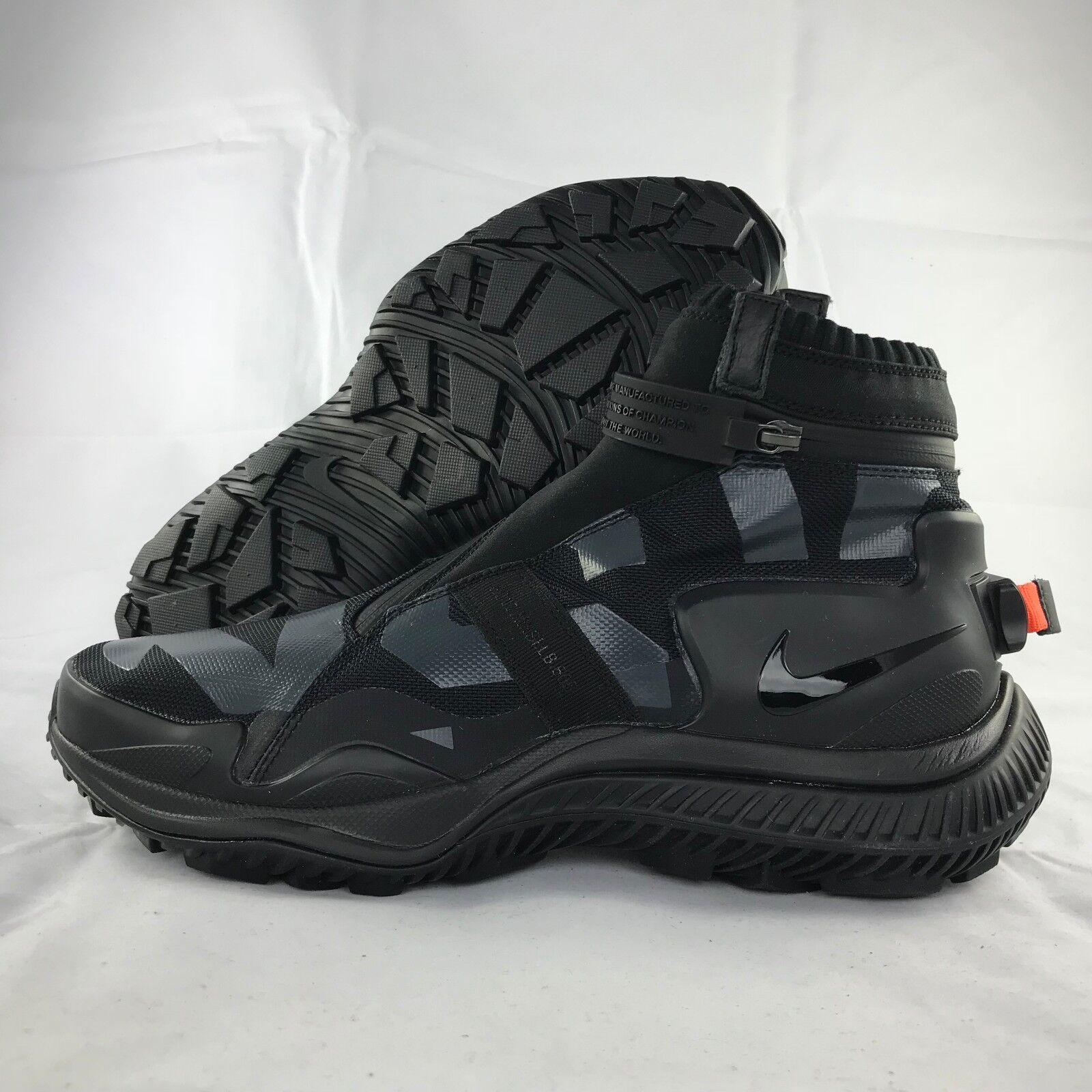 Nike NikeLab NSW Gaiter Boot Black Anthracite Orange AA0530-001 Men's 10 NEW