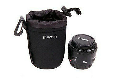 Camera Lens Pouch bag Water resistant Neoprene Soft  backpack Case--Size:small