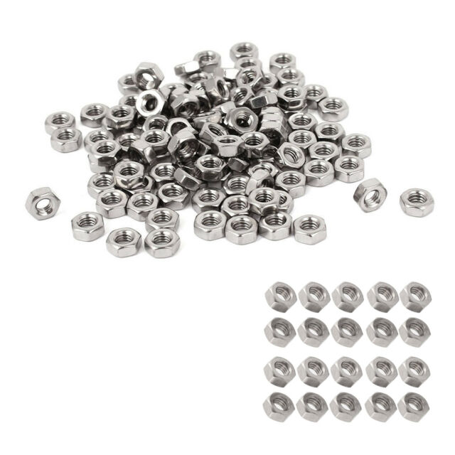S6 Sujetador de acero inoxidable 304 tuercas hexagonales M3 metricos DIN934 100p