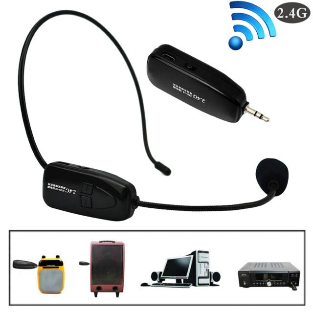 2.4GHz Wireless Microphone Speech Headphone Megaphone Radio Mic for Loudspeaker