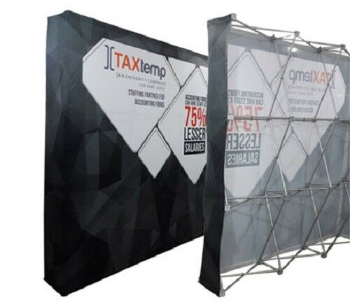 10ft Straight Pop Up Fabric Display