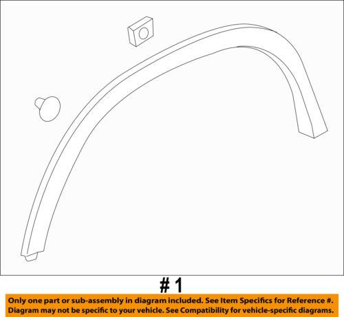 Chevrolet GM OEM Trax EXTERIOR TRIM-FENDER-Wheel Opening Molding Left 42490924