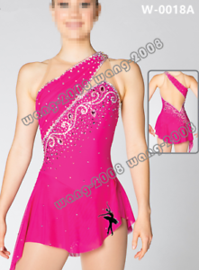 Adult Marvellous Ice Skating Figure skating Dress  Gymnastics  Costume Pink Y180  low 40% price