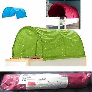 Image is loading IKEA-Child-039-s-KURA-BED-TENT-Canopy-  sc 1 st  eBay & IKEA Childu0027s KURA BED TENT Canopy Toy GREEN 0r PINK 0r BLUE Girl ...