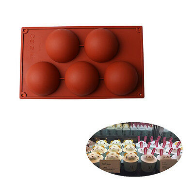 Half Ball Silicone Mould Round Cookie Chocolate Decorating Cake Candy Soap Mold