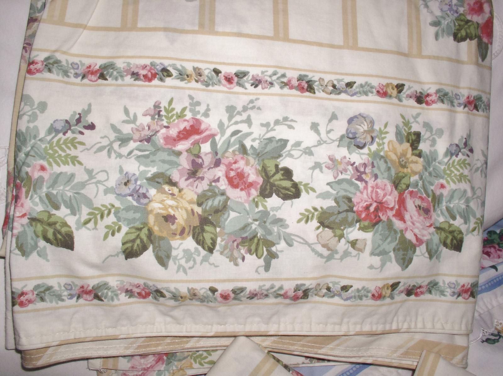 Martex  King Flat Sheet & 2 King Pillowcases  Liberty of London  Floral pinks