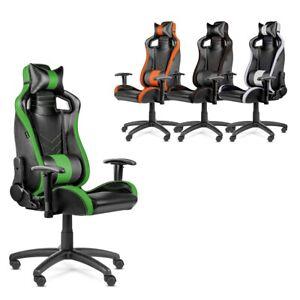 Chaise de bureau Gaming PRO fauteuil travail inclinable pivotant -McHaus