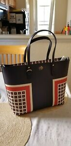 72e6c4faa03 NWT Authentic TORY BURCH KERRINGTON SQUARE Small Tote MILANO SQUARE ...