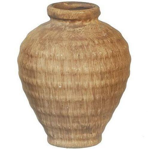 DOLLHOUSE Scratch N Dent Large Brown Vase Aztec AZB1832 Miniature