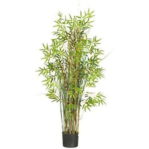 Decorative Natural Looking Artificial Asian 5 Bamboo Grass Silk