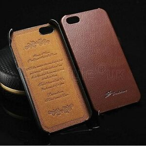 iPhone-SE-5S-5-Genuine-Leather-Back-Case-Slim-Light-Protective-Hard-Snap-Cover