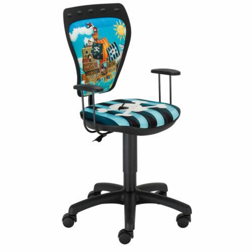 Büro Stuhl Pirat Kinder Jungen bunt Arbeitszimmer Drehstuhl Schreibtisch Schule