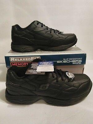 77032 black size 13 skechers shoe memory foam work men