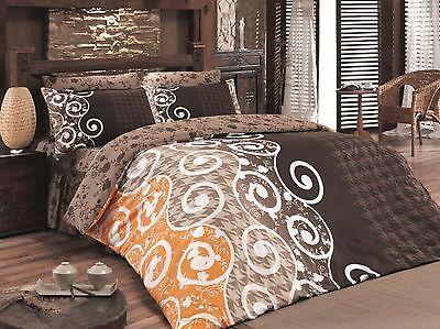 Bettwaren, -wäsche & Matratzen Bettwäschegarnituren Ausdauernd Bettwäsche 200x200 Cm Bettgarnitur Bettbezug Baumwolle Kissen 5 Tlg Scarlet Brau Offensichtlicher Effekt
