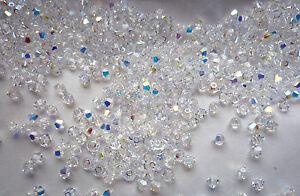 100-Swarovski-Kristall-Perlen-Xilion-Beads-4mm-CRYSTAL-AB-Art-5328