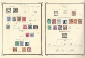 New-South-Wales-Stamp-Collection-1850-1906-on-9-Scott-Specialty-Pages