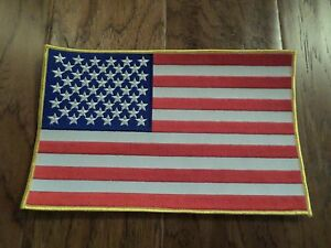 """U.S AMERICAN FLAG OVERSIZED BACK PATCH 6""""X 10"""" FULL COLOR BACKPATCH"""