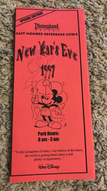 Disney DL - 1997 New Years Eve, Special Edition Cast ...