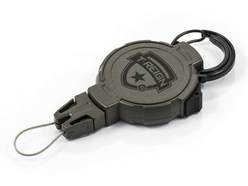 T-REIGN X Duty Karabiner 35 oliv Schlüsselrolle Schlüssel-Jojo