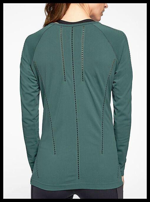 Athleta NWT Women's Foothill Long Sleeve Size XLarge color Dark Jade