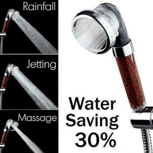 3 In 1 High Pressure Ionic Shower Head Massage Protect Fast Shipp K0T8 Purify