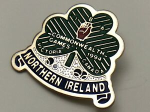1994-Commonwealth-Games-Victoria-Canada-Northern-Ireland-Clover-Pin-F904