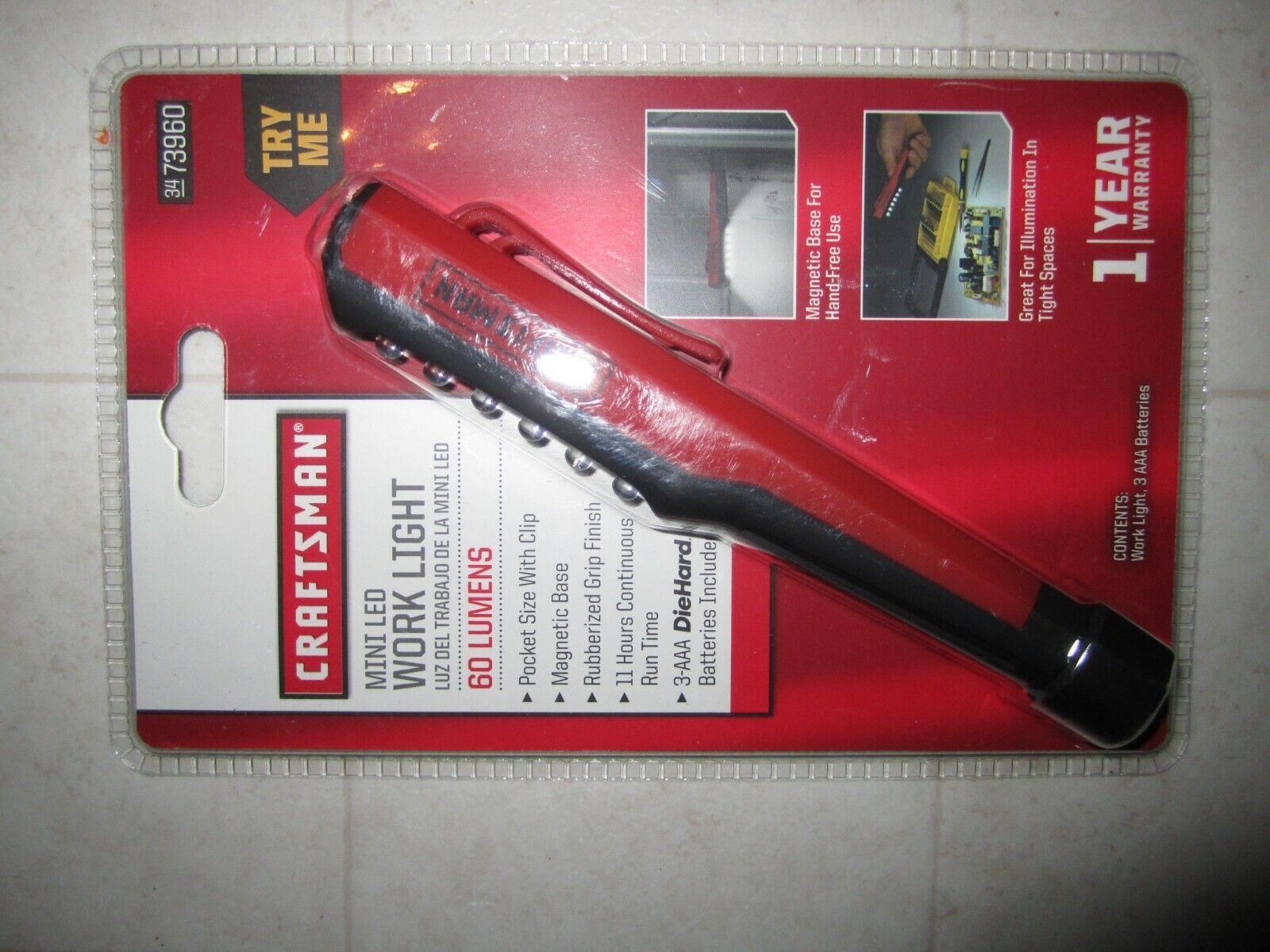 Craftsman Led Pocket Light Red  NEW