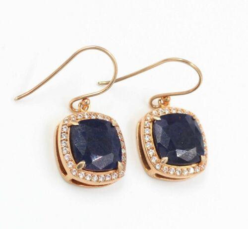 Details about  /925 Sterling Silver Sapphire Ruby Lemon Quartz Gemstone Rose Gold Plated Earring