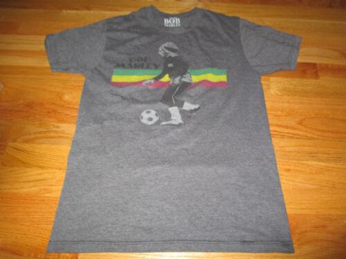 BOB MARLEY Playing Soccer (SM) T-Shirt