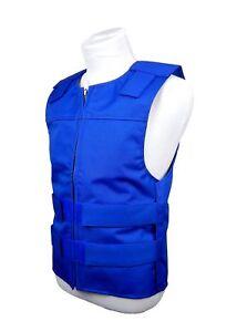 Bulletproof Style Motorcycle Vest Cordura BLUE CAMO