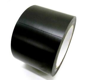 Pvc-Cinta-adhesiva-negro-mate-75mm-x-33m-de-proteccion-marcado-Floor-tape