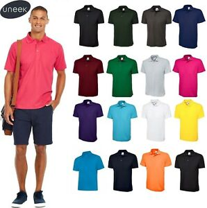 Uneek-Unisex-Polo-Shirt-Classic-UC101-Work-Wear-Causal-Top-Various-Colours