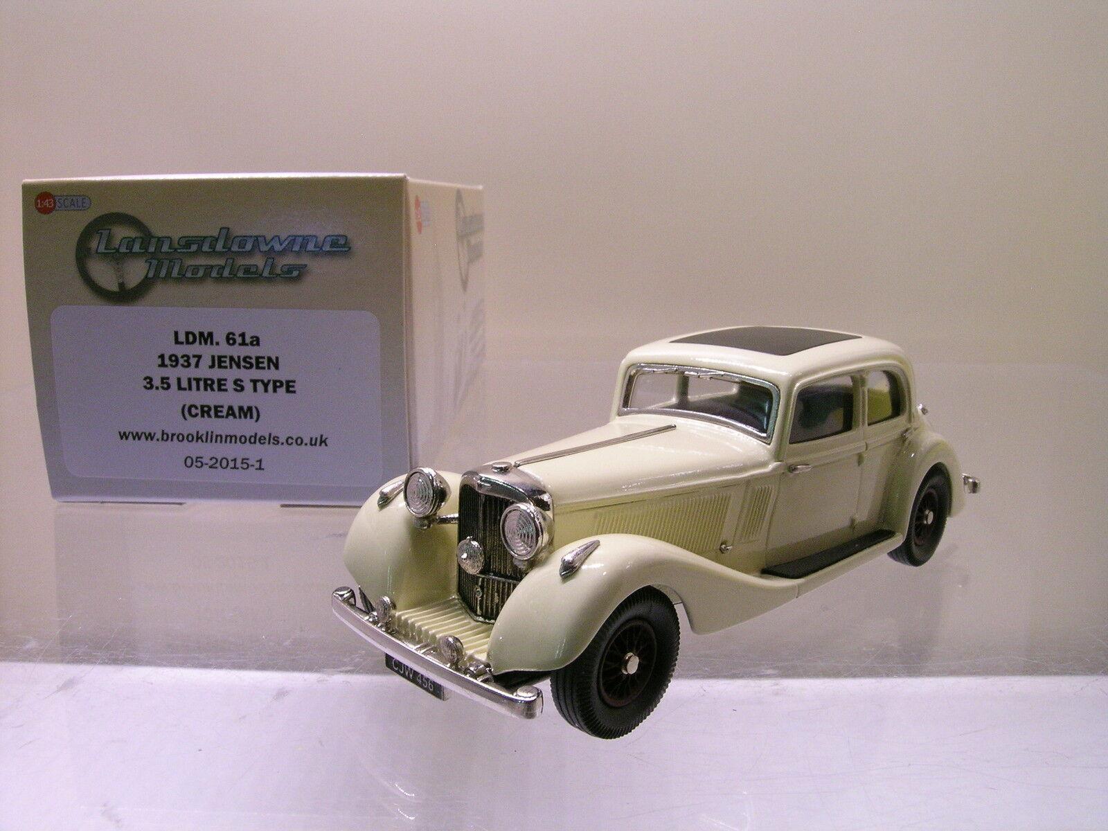 LANSDOWNE MODELS LDM 61A JENSEN 3,5 LITRE S-TYPE 1937 COLOUR CREAM+BOX 1 43