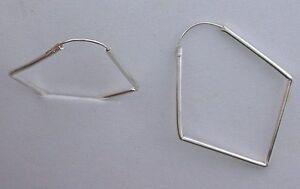 Heart 1 Inch Hoop Pair Earrings .925 Pure Sterling Silver EBS4351