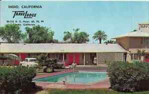 "Indio CA East of Palm Springs, California   ""Indio TraveLodge Motel""  Postcard"