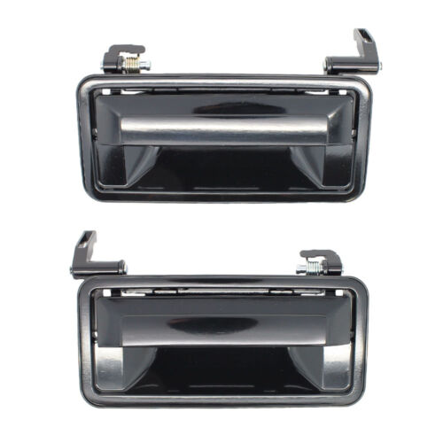 Smooth Black Outside Door Handles Pair Front Left Driver Right Passenger