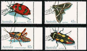 1991-AUSTRALIA-Australian-INSECTS-4-FU-CTO