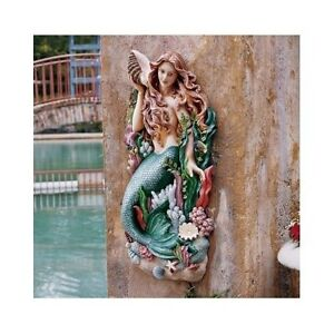 Merveilleux Image Is Loading Large Mermaid Wall Art Nautical Figurehead Decor Plaque