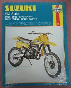 nos haynes 79 80 suzuki rm50 rm60 rm80 rm100 rm125 rm250 rm400 rh ebay com 1970 Suzuki RM 80 Suzuki RM 80 Brochures