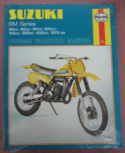 suzuki rm series manual 50 60 80 100 125 250 400cc 1979 haynes rh ebay co uk Suzuki RM 85 1978 Suzuki RM 80