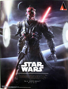 Star-Wars-10-034-DARTH-MAUL-ACTION-FIGURE-Play-Arts-KAI-100-Authentic
